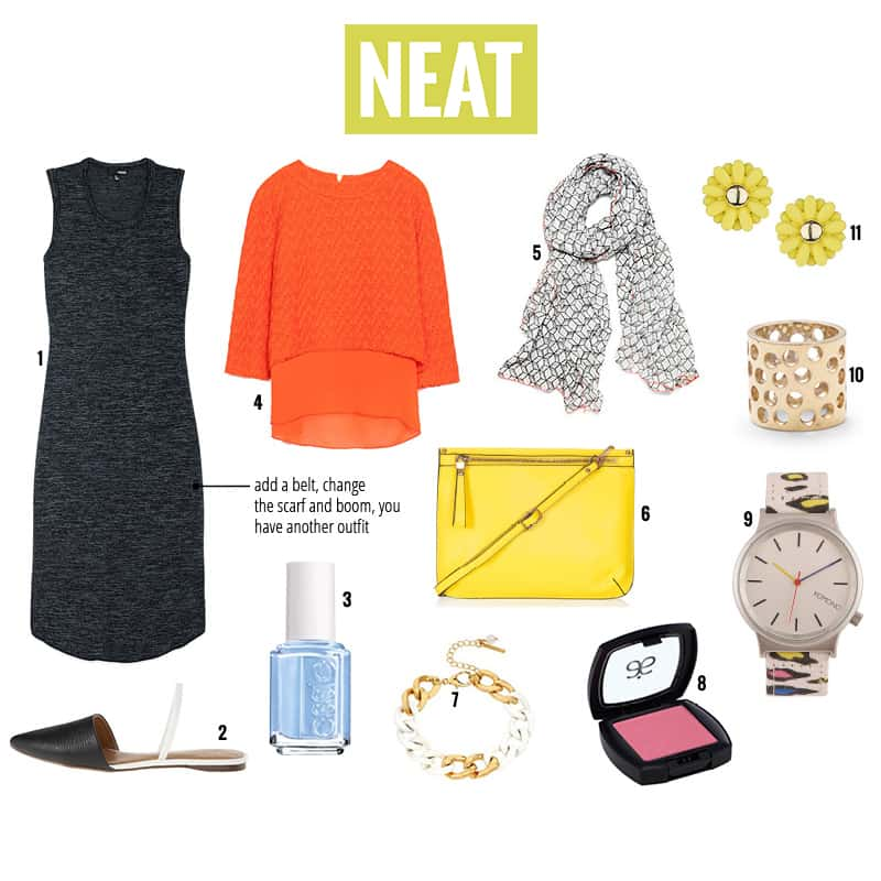 NEAT blog five looks one dress