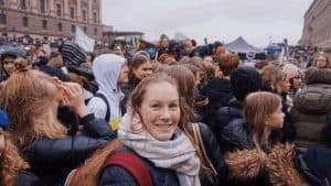 Sonja Palm at #SchoolStrike4Climate in Stockholm